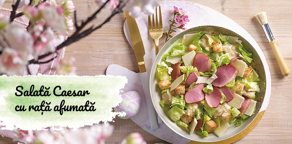 Salată Caesar cu rață afumată