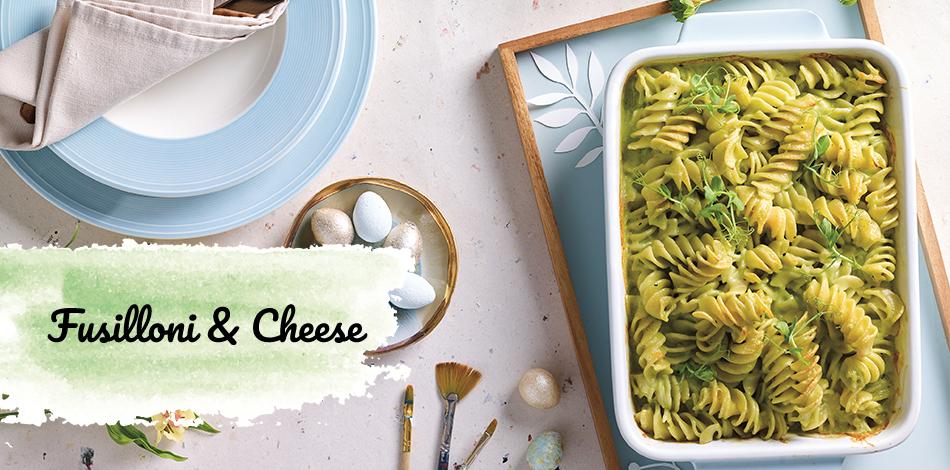 Fusilloni cheese