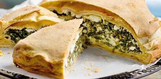 Spanakopita (Plăcintă cu brânză feta și spanac)