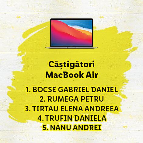 câștigători MacBoook Air