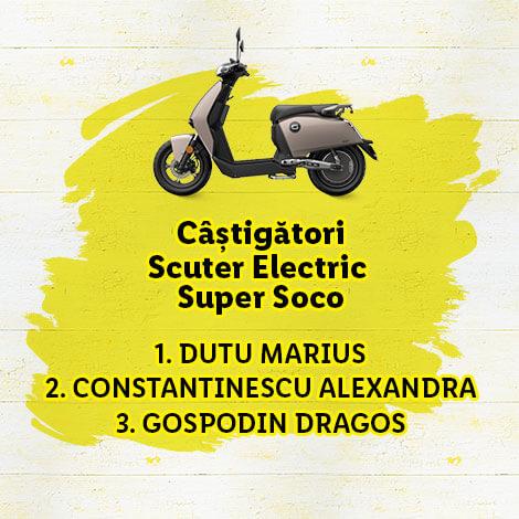 câștigători Scuter Electric