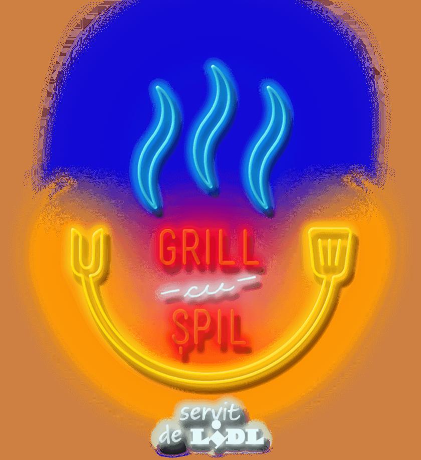 Grill cu șpil servit de Lidl
