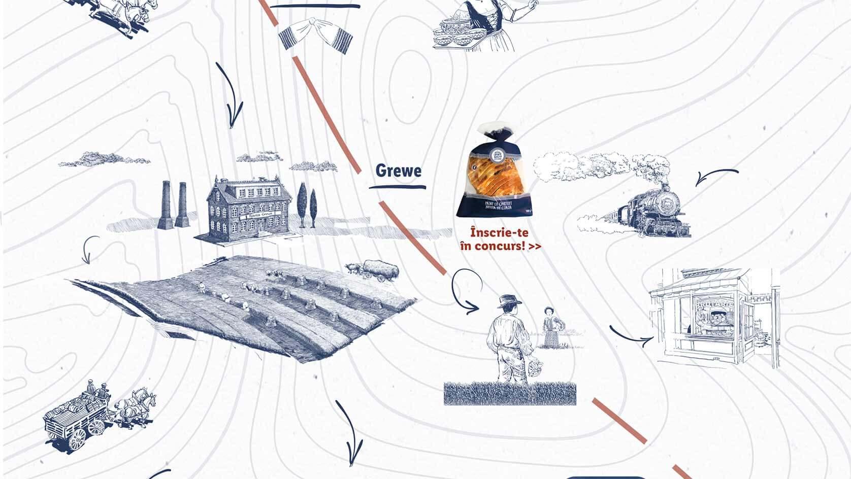 imagine hartă paine