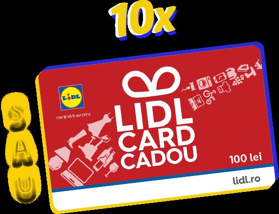 10x Lidl card cadou