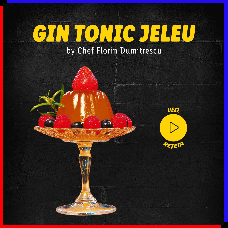 Gin tonic jeleu by Chef Florin Dumitrescu